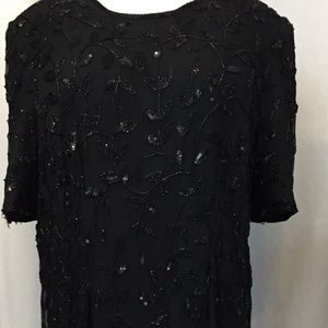Size 18 20 Black Dress Sequined Lane Bryant Design